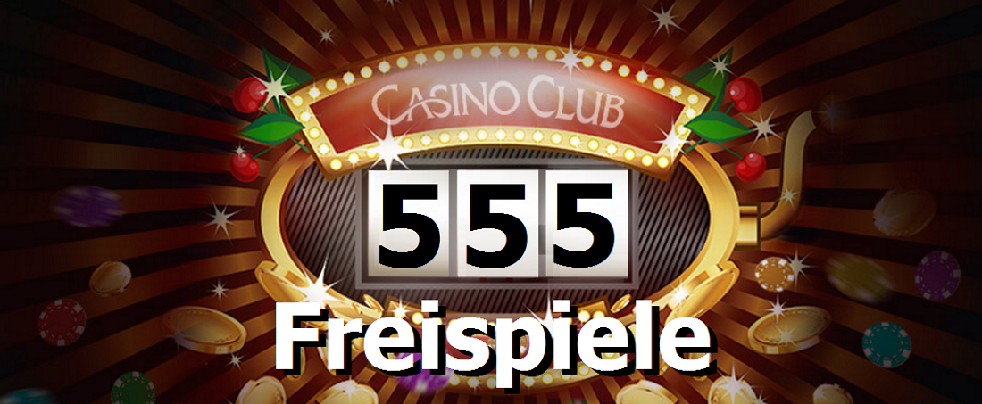 555 Free Spins at Casino Club