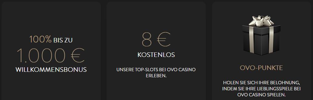 OVO Casino Netent Bonus