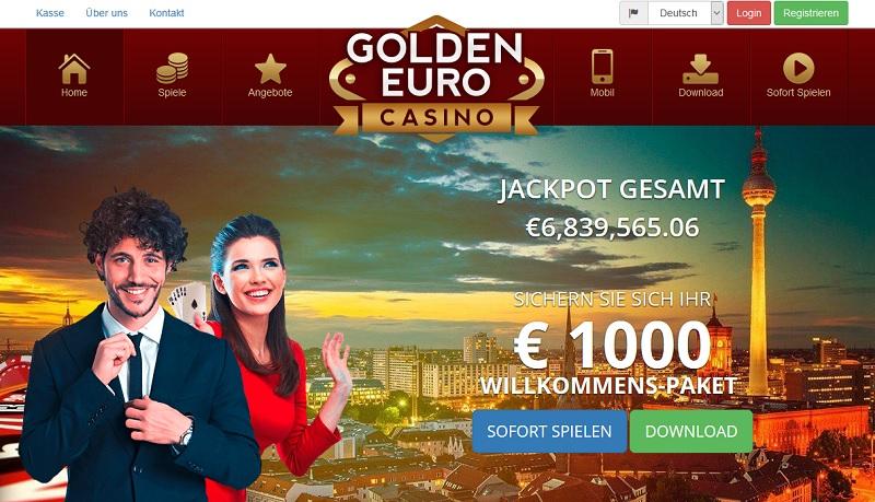 Webseite Golden Euro