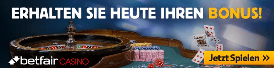 Betfair Casino Bonus und Freispiele