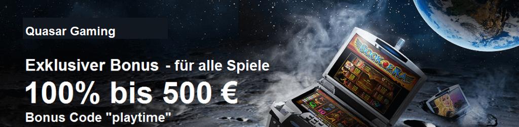 Quasar Gaming Bonus Gamomat