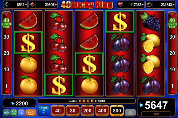 40 Lucky King Slot EGT