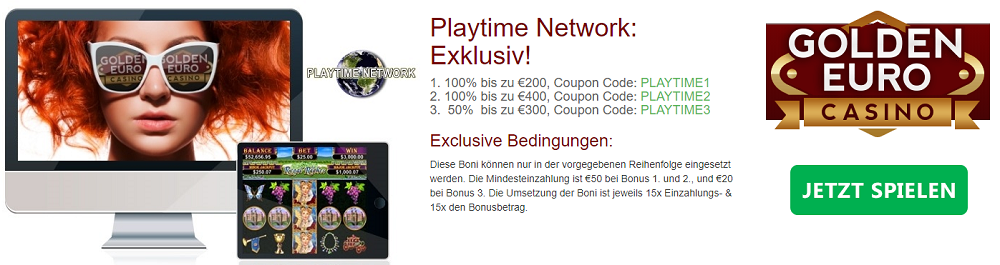 Golden Euro Playtime Bonus