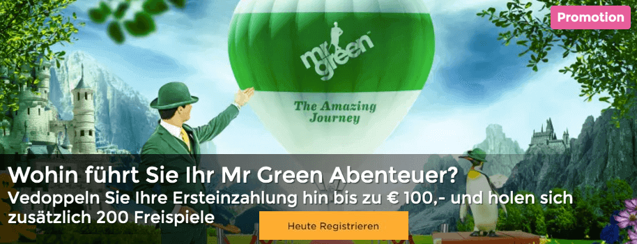 Mr Green Bonus DE