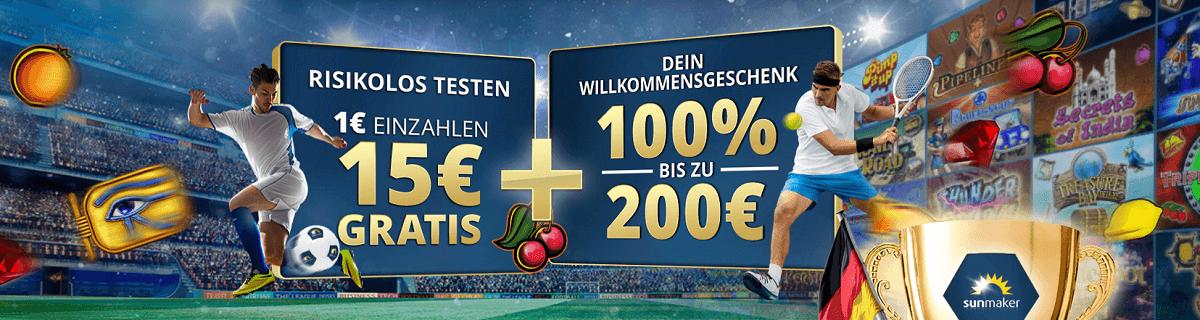 Sunmaker 5 € Gratis Bonus WM 2018